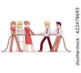 business women and men teams in ... | Shutterstock .eps vector #622478693