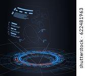 sci fi futuristic user... | Shutterstock .eps vector #622481963