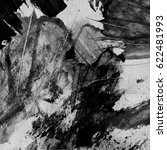 black and white painted texture.... | Shutterstock . vector #622481993