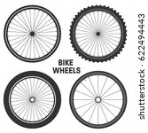bicycle wheel symbol vector.... | Shutterstock .eps vector #622494443