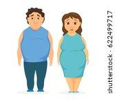 man and women obesity. fat... | Shutterstock .eps vector #622499717