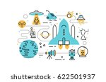 space line icons illustration.... | Shutterstock .eps vector #622501937