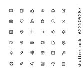 outline user interface icons
