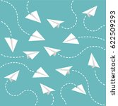 paper planes background | Shutterstock .eps vector #622509293