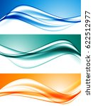 abstract elegant dynamic wavy... | Shutterstock .eps vector #622512977
