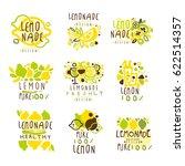 lemonade set for label design.... | Shutterstock .eps vector #622514357