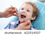 close up of boy having his... | Shutterstock . vector #622514537