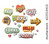 comic speech bubbles for... | Shutterstock .eps vector #622515413