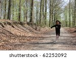 girl in autumn forest in the... | Shutterstock . vector #62252092