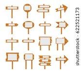 wooden signboards  wood arrow... | Shutterstock . vector #622521173