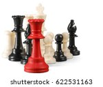 chess figure isolated on the... | Shutterstock . vector #622531163
