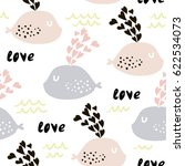 seamless pattern with cute...   Shutterstock .eps vector #622534073