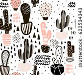 seamless pattern with cactus... | Shutterstock .eps vector #622534343