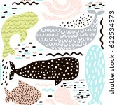 seamless pattern with sea... | Shutterstock .eps vector #622534373