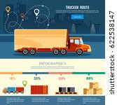 cargo delivery infographic ... | Shutterstock .eps vector #622538147