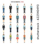 young men and women in flat... | Shutterstock .eps vector #622540493