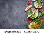 assorted asian dinner with...   Shutterstock . vector #622543877