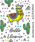 hello print. vector card with... | Shutterstock .eps vector #622553903