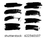 set of black paint  ink brush... | Shutterstock .eps vector #622560107
