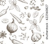 hand drawn seamless set of... | Shutterstock .eps vector #622560827