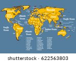vector world political map with ...   Shutterstock .eps vector #622563803