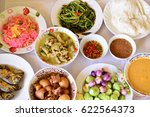thai food with colorful colors... | Shutterstock . vector #622564373