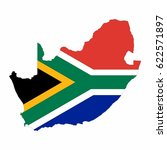 map of south africa vector...   Shutterstock .eps vector #622571897
