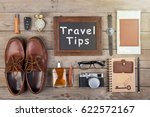 travel tips concept   camera ... | Shutterstock . vector #622572167