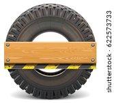 vector board with truck tire | Shutterstock .eps vector #622573733
