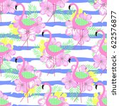tropical seamless pattern with... | Shutterstock .eps vector #622576877