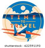 time to travel and summer... | Shutterstock .eps vector #622591193