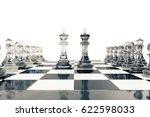 chess set  victory  transparent ... | Shutterstock . vector #622598033