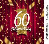 anniversary golden signboard in ... | Shutterstock .eps vector #622602857