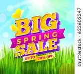 spring sale sign with... | Shutterstock .eps vector #622603247