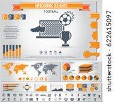 soccer  football infographics... | Shutterstock .eps vector #622615097