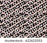 leopard pattern  vector ... | Shutterstock .eps vector #622623353