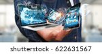 businessman on blurred... | Shutterstock . vector #622631567