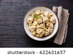russian meat dumplings pelmeni... | Shutterstock . vector #622631657