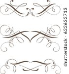 set of dividers ornamental rule ... | Shutterstock .eps vector #622632713