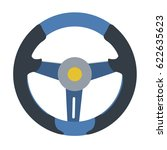 vector sport steering wheel... | Shutterstock .eps vector #622635623