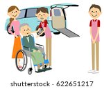 welfare vehicles and elderly... | Shutterstock .eps vector #622651217