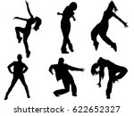 set of dancing female... | Shutterstock .eps vector #622652327