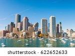 Skyline Of Boston At Dusk ...