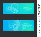 abstract footer with... | Shutterstock .eps vector #622669733