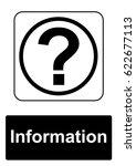 public information sign... | Shutterstock . vector #622677113