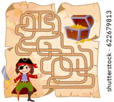 help pirate find path to... | Shutterstock .eps vector #622679813