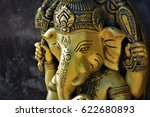 golden ganesha | Shutterstock . vector #622680893