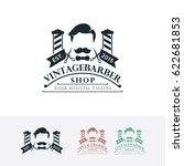 vintage barber shop  vector... | Shutterstock .eps vector #622681853