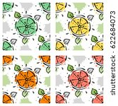 vector fruits seamless pattern. ... | Shutterstock .eps vector #622684073