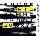 grunge blur alphabet. no signal ... | Shutterstock .eps vector #622687043